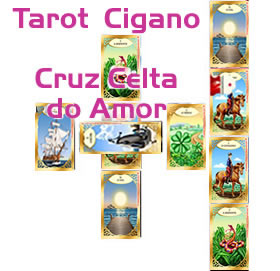tarot cigano cruz celta do amor